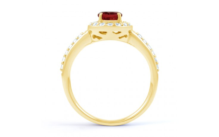 Ruby Cluster Gold Ring product image 3