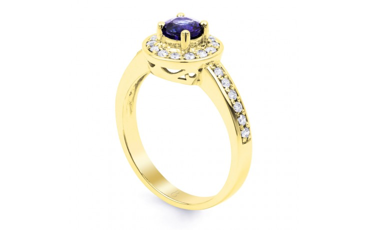 Vintage Tanzanite Gold Halo Ring  product image 2