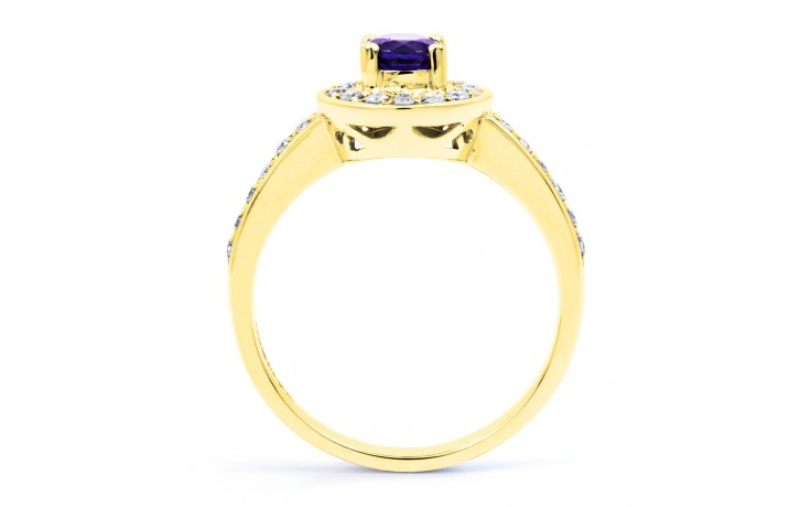 Vintage Tanzanite Gold Halo Ring  product image 3