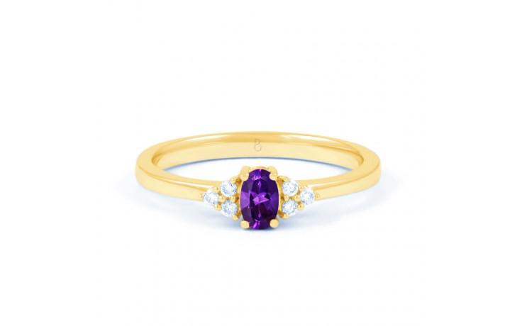 Leo Amethyst & Diamond Gold Ring product image 1