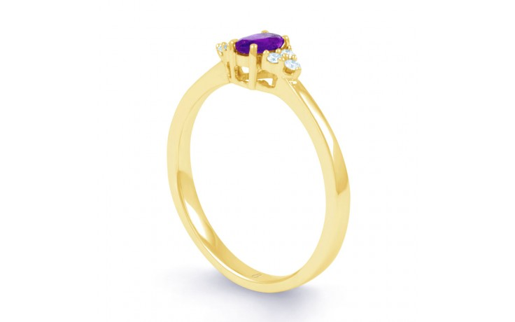 Leo Amethyst & Diamond Gold Ring product image 2
