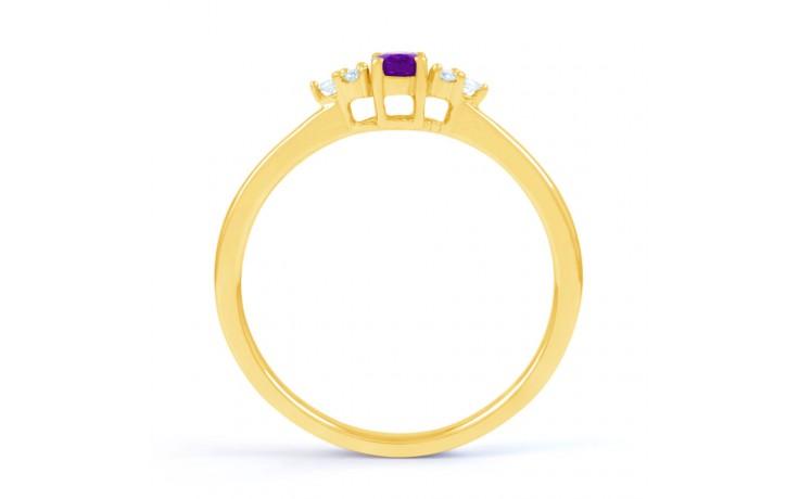 Leo Amethyst & Diamond Gold Ring product image 3