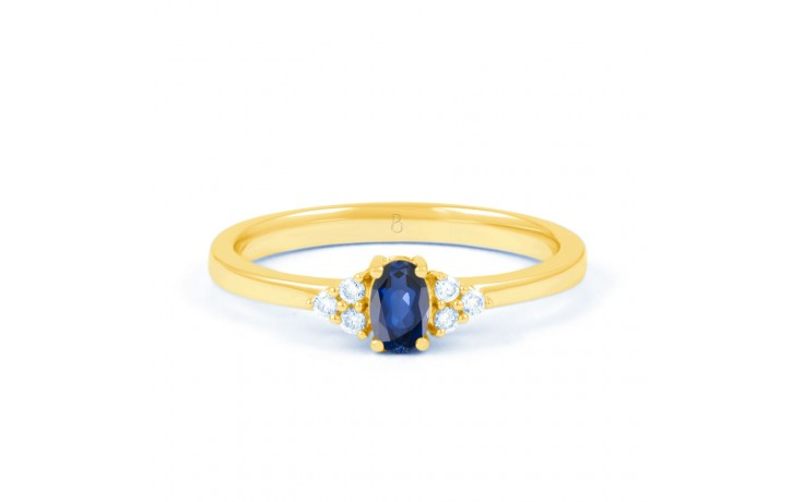 Leo Blue Sapphire Gold Ring product image 1