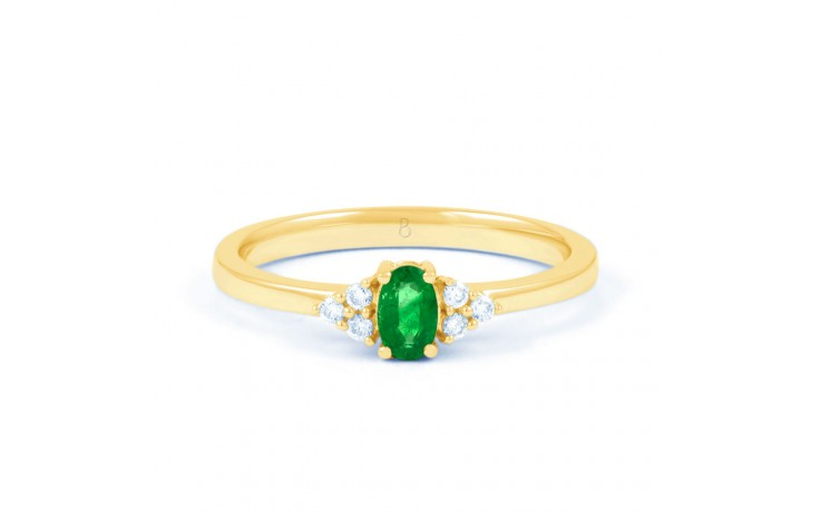 Leo Emerald Gold Ring product image 1
