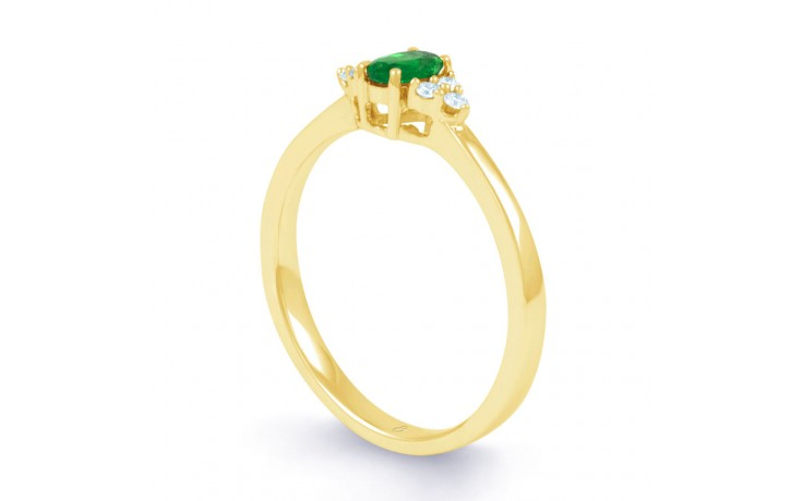 Leo Emerald Gold Ring product image 2