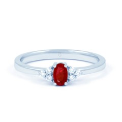 Leo 18ct White Gold Ruby Ring image 1