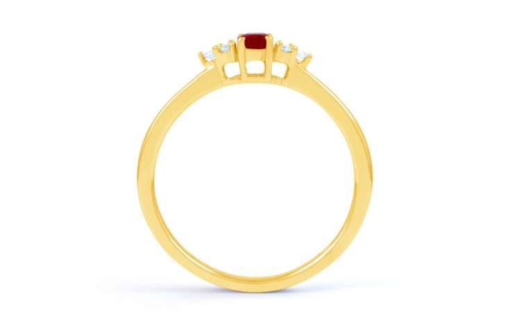 Leo Ruby Gold Ring product image 3