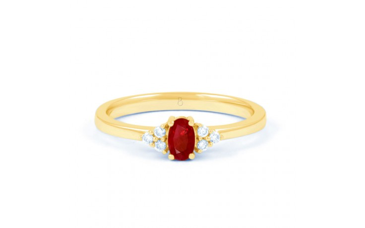Leo Ruby Gold Ring product image 1