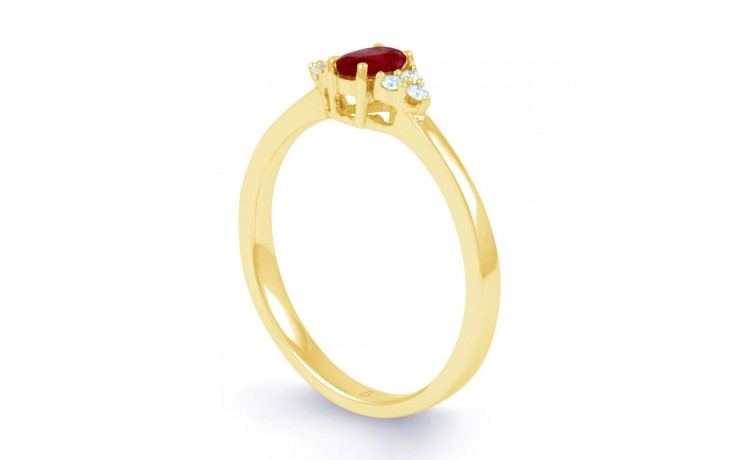 Leo Ruby Gold Ring product image 2