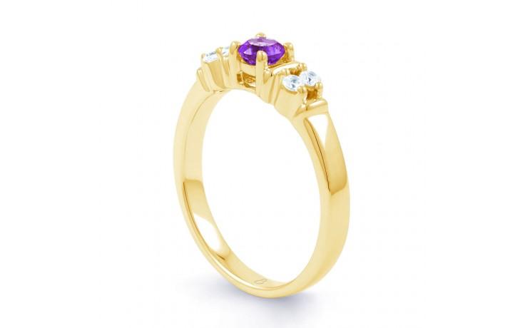 Lotus Amethyst & Diamond Gold Ring product image 2