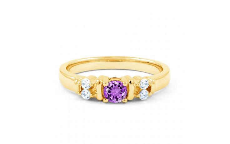 Lotus Amethyst & Diamond Gold Ring product image 1