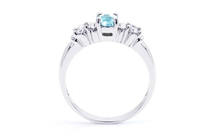Lotus Aquamarine Ring In Platinum product image 3