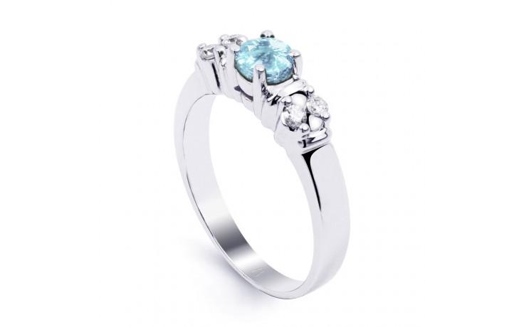 Lotus Aquamarine Ring In Platinum product image 2