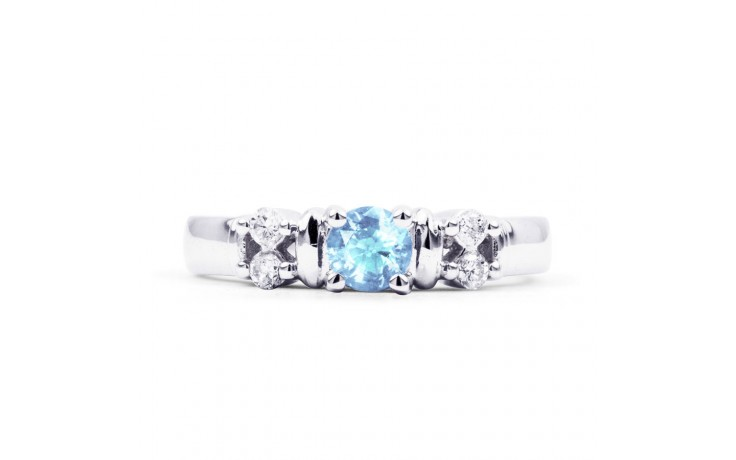Lotus Aquamarine Ring In Platinum product image 1