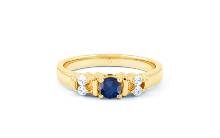 Lotus Blue Sapphire Gold Ring product image 1