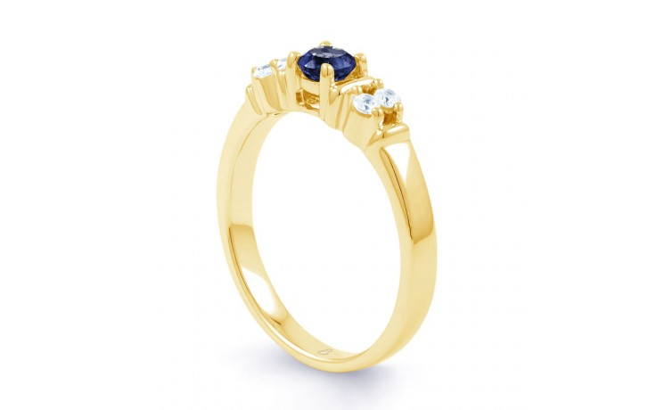 Lotus Blue Sapphire Gold Ring product image 2