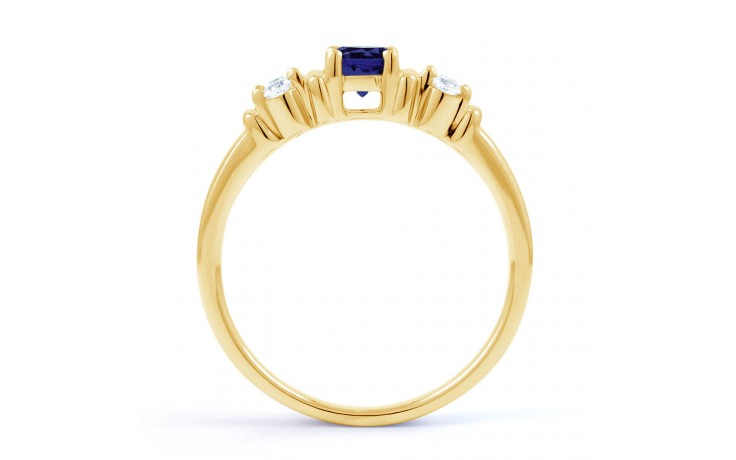 Lotus Blue Sapphire Gold Ring product image 3