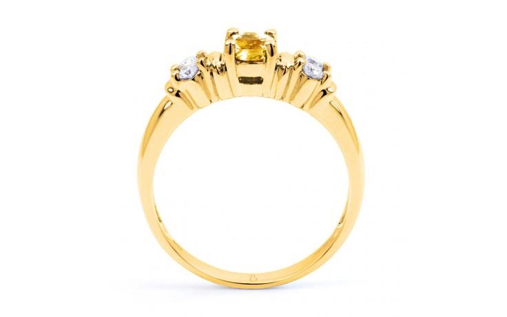 Lotus Citrine & Diamond Gold Ring product image 3