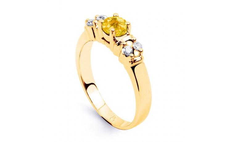 Lotus Citrine & Diamond Gold Ring product image 2