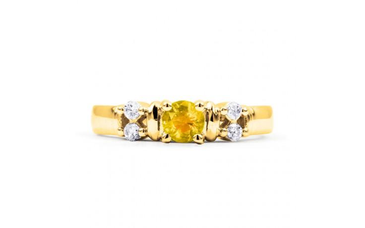 Lotus Citrine & Diamond Gold Ring product image 1