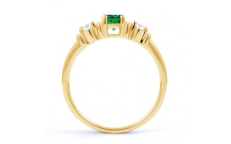 Lotus Emerald Gold Ring product image 3