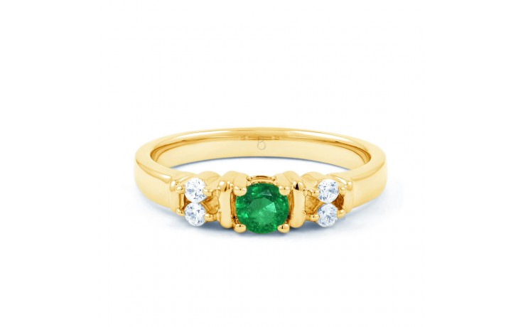 Lotus Emerald Gold Ring product image 1
