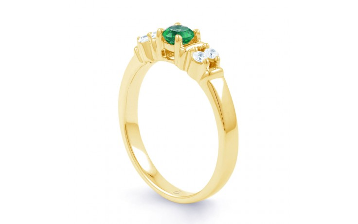 Lotus Emerald Gold Ring product image 2