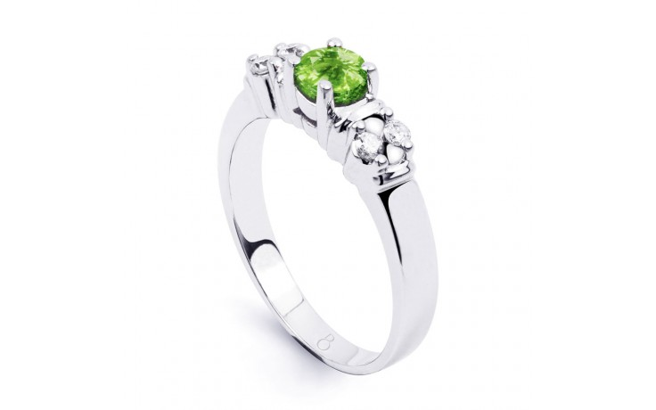 Lotus Peridot & Diamond Ring product image 2