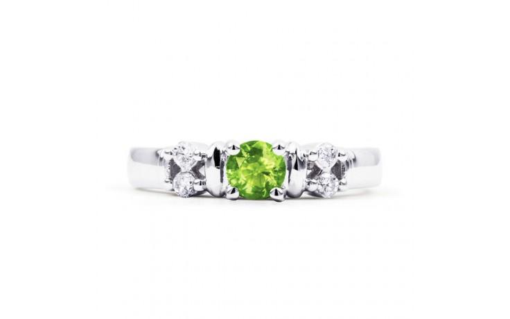 Lotus Peridot & Diamond Ring product image 1