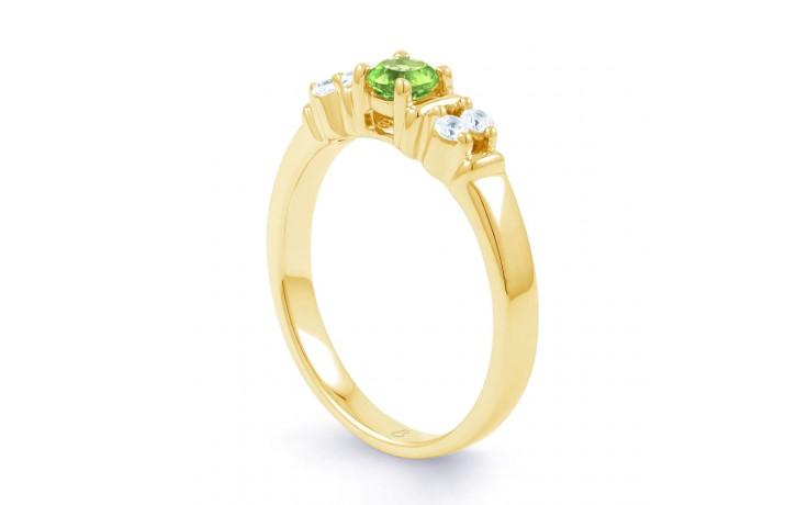 Lotus Peridot & Diamond Gold Ring product image 2