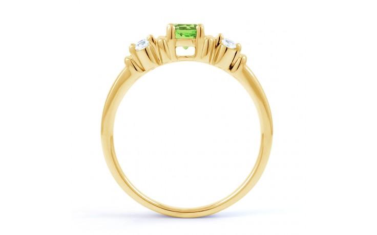 Lotus Peridot & Diamond Gold Ring product image 3