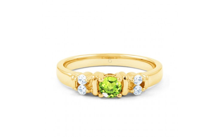 Lotus Peridot & Diamond Gold Ring product image 1
