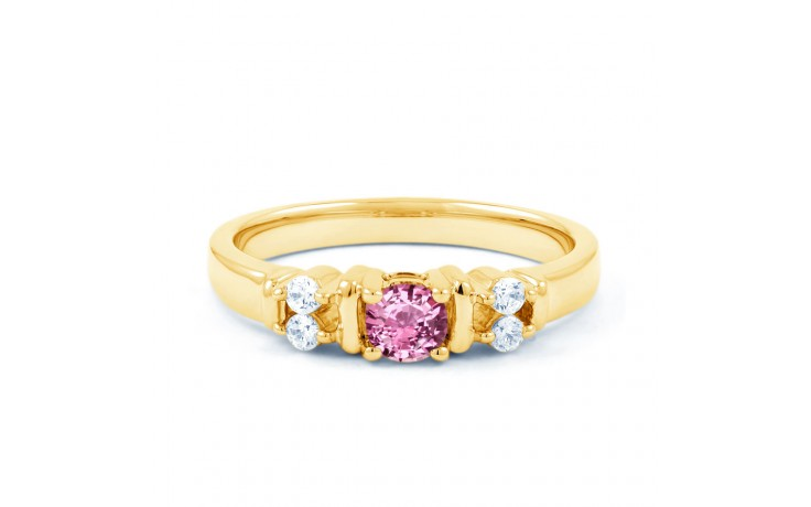 Lotus Pink Sapphire Yellow Gold Ring product image 1