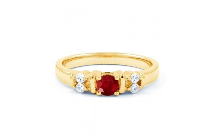 Lotus Ruby Gold Ring product image 1