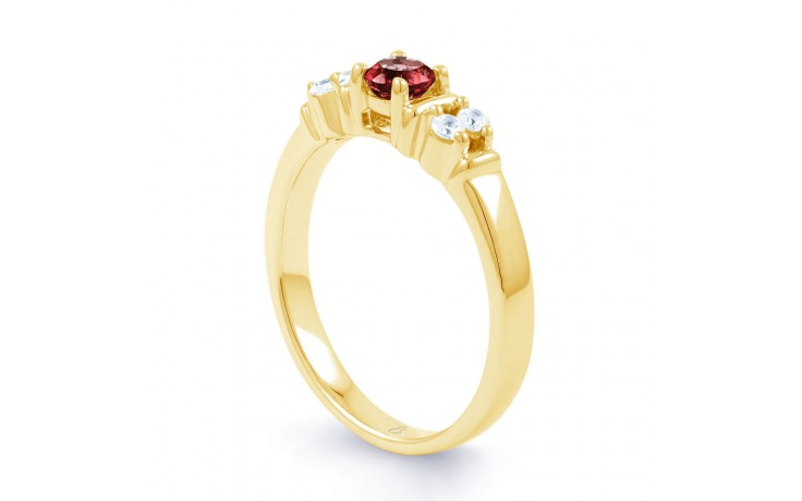 Lotus Ruby Gold Ring product image 2