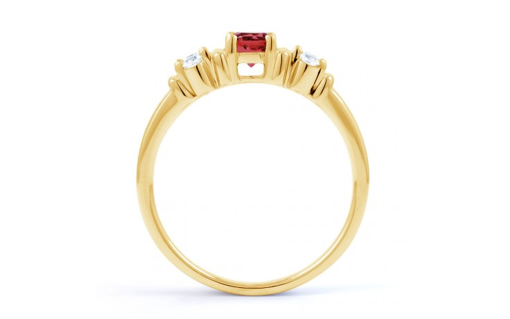 Lotus Ruby Gold Ring product image 3
