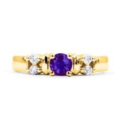 Lotus 18ct Yellow Gold Tanzanite and Diamond Ring image 0
