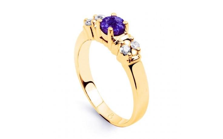 Lotus Tanzanite Gold Ring product image 2