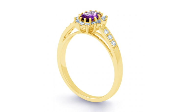 Starlight Amethyst Gold Ring product image 2