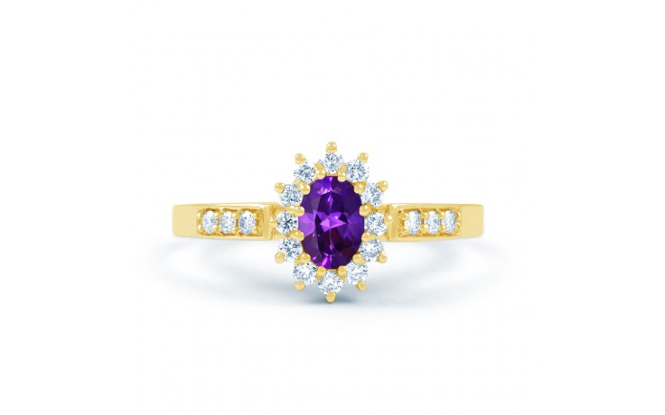 Starlight Amethyst Gold Ring product image 1