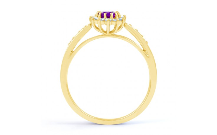 Starlight Amethyst Gold Ring product image 3