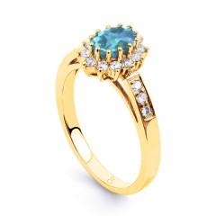 Starlight Aquamarine and Diamond Engagement Ring image 1