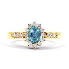 Starlight Aquamarine and Diamond Engagement Ring image 0