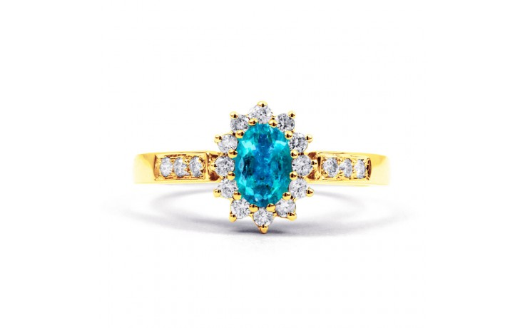 Starlight Blue Topaz Gold Ring product image 1