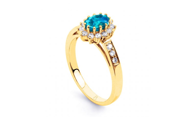 Starlight Blue Topaz Gold Ring product image 2