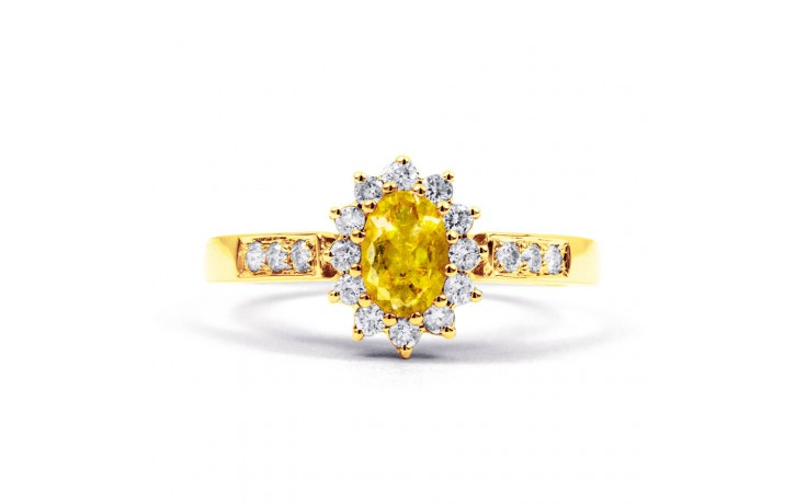 Starlight Citrine Yellow Gold Ring product image 1