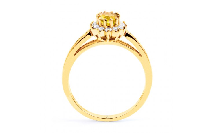 Starlight Citrine Yellow Gold Ring product image 3