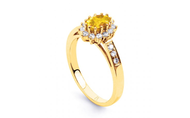 Starlight Citrine Yellow Gold Ring product image 2