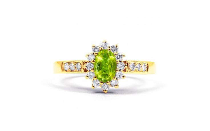 Starlight Peridot Gold Ring product image 1