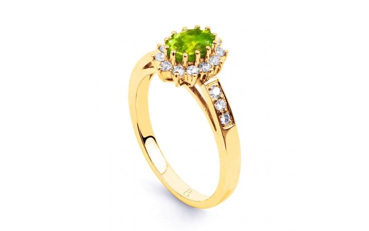 Starlight Peridot Gold Ring product image 2